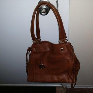 Saks Fifth Avenue Brown Shoulder Bag